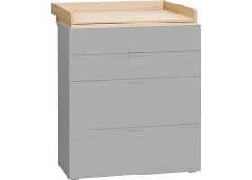 Dresser grey With Changing Table - 4 YOU by vox