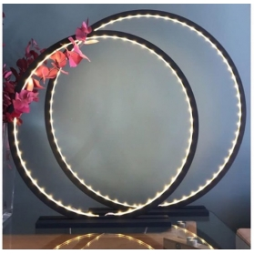 Lampe à poser en bois peint Noir - 25, 60 ou 70 cm