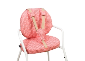 Seat Cushion for High Chair TIBU - Diamond Red