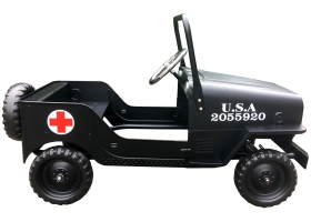 Toys - Jeep in Black by Protocol Red cross Ambulance