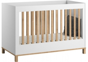 Baby Bed 60 x 120 cm - VOX Altitude White/oak