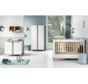 Pack Trio : Baby Bed 60 x 120 + Dresser With Changing Table Altitude + 2 Wardrobe - White
