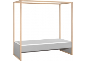 Bed 4 you grey with canopy - 90 x 200 cm