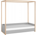 BED 4 YOU grey with Canopy and Bottom bed with frame - 90 x 200 cm