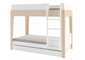 Lit tiroir Perch Blanc (nouvelle échelle inclue)