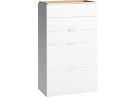 Commode Haute 4 You 5 tiroirs blanc