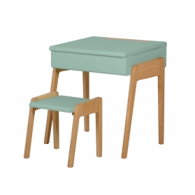 "Pack Children's Desk ""My litte pupitre"" and Stool - Green"