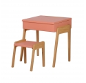 """Pack Children's Desk """"My litte pupitre"""" and Stool - Old pink"""