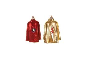 Cape de super héros rouge et or réversible