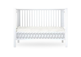 Baby Bed Harlequin White - 60 x 120 cm