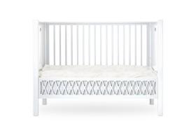 Lit bébé évolutif Harlequin Blanc - 60 x 120 cm