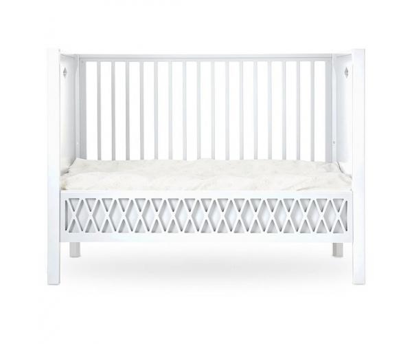 Baby Bed Harlequin White - 60 x 120 cm