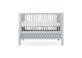 Lit bébé évolutif Harlequin Gris - 60 x 120 cm