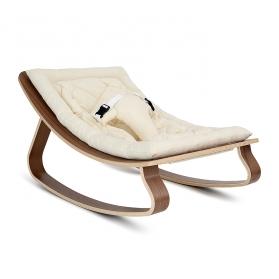 Baby Rocker LEVO Walnut - Organic White Cushion