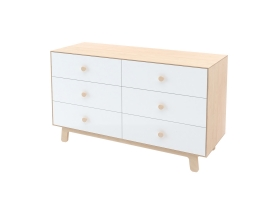 Commode Merlin Sparrow 6 tiroirs Bouleau
