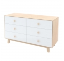 Merlin 6-drawer chest of drawers - Birch