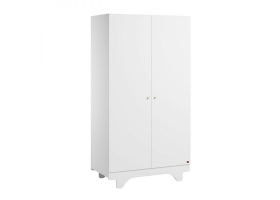 2-DOOR WARDROBE Playwood - White