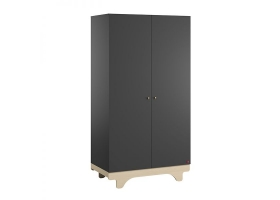 2-DOOR WARDROBE Playwood - Graphite Birch