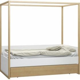 Bed 4 you White VOX with canopy and drawer - 90 x 200 cm