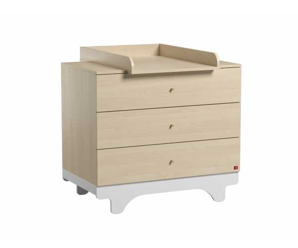 Dresser With Changing Table Playwood Birch White