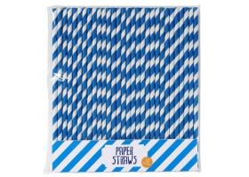 Paille ~Set de 25 pailles bleues~