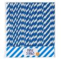 Paille ~Set de 30 pailles bleues~