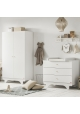 Pack Duo : Baby Bed 70 x 140 + Dresser With Changing Table Playwood + Wardrobe - White
