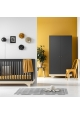 Pack Duo : Baby Bed 70 x 140 + Dresser With Changing Table Playwood + Wardrobe - Grey