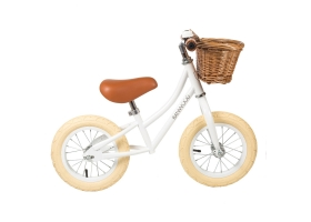 "Toys - Go First Push Bike 12"" by Banwood - White"