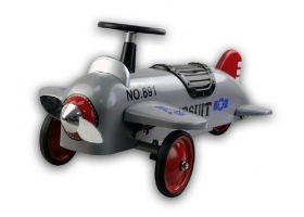 Porteur Avion biplan en métal gris argenté