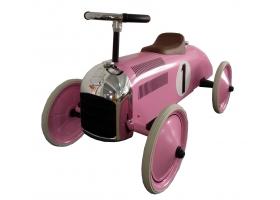 Voiture de course porteur de luxe en métal rose