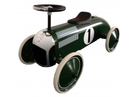 Voiture de course porteur de luxe en métal vert