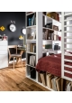 Two-Sided Bookcase 4 you white by VOX