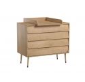 Dresser With Changing Table BOSQUE Natural