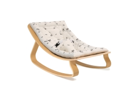 Baby Rocker LEVO Beech with Rose in April Fawn cushion