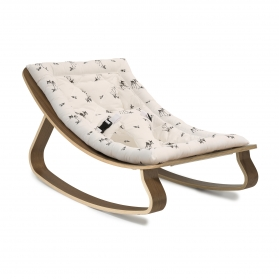 Baby Rocker LEVO Walnut with Rose in April Fawn cushion