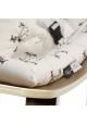 Baby Rocker LEVO Walnut with Rose in April Fawn cushion