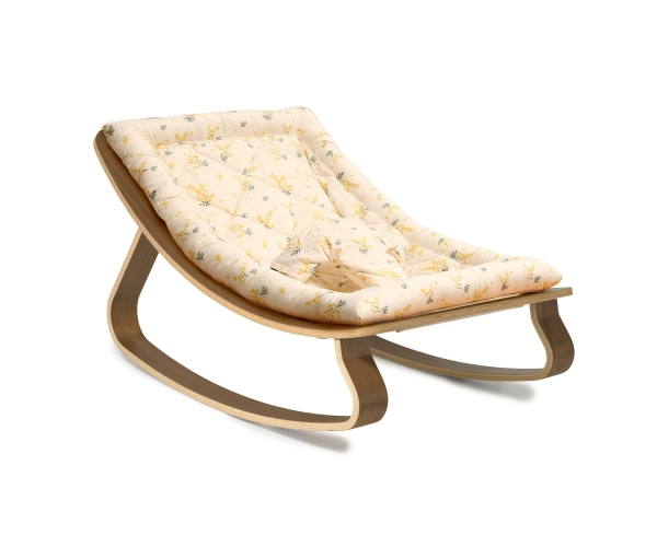 Baby Rocker LEVO Beech with MIMOSA GARBO & FRIENDS cushion