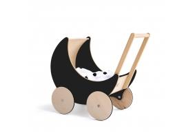 Landau de poupée en ardoise noire Toy Pram