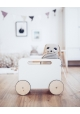 TOY CHEST ON WHEELS by Ooh Noo - White