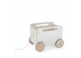 Coffre à jouets à roulettes en bois blanc Toy Chest