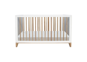 Nami Cedar and Rattan Weave Baby Bed 70x140cm White