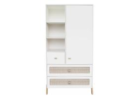 WARDROBE Marelia Cedar Rattan Weave Cabinet White by Théo