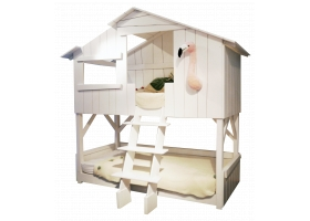 Treehouse Bunk bed 90 x 190 cm by MATHY BY BOLS - White
