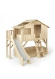 Treehouse Bunk bed and slide with plateform 90 x 190 cm by MATHY BY BOLS - Lime