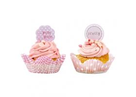 Pink Lollipop ~Set de 50 caissettes à cupcakes et toppers~
