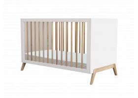 Lit bébé évolutif MARELIE cèdre 60 x 120 cm Neige - Blanc