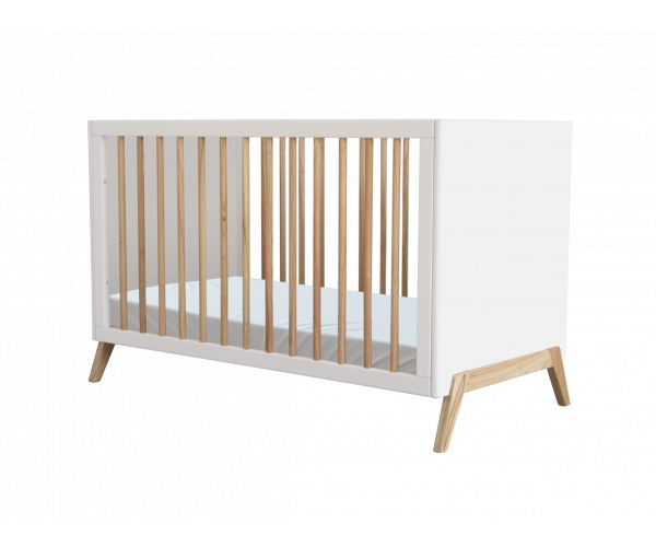 Marelie extendable Cedar Baby Bed 60x120 cm White