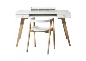 Ensemble Bureau Wood 72 cm et Chaise Wood Blanc