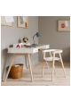 WOOD desk 72 cm and chair By OLIVER FURNITURE - White